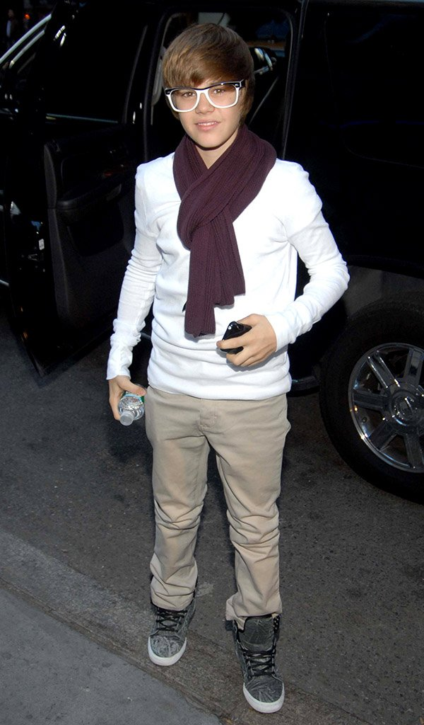 Justin Bieber enters the Today Show studios, NYC