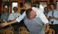 Obama Gets Bear Hug From &#39;Overwhelmed&#39; Fan