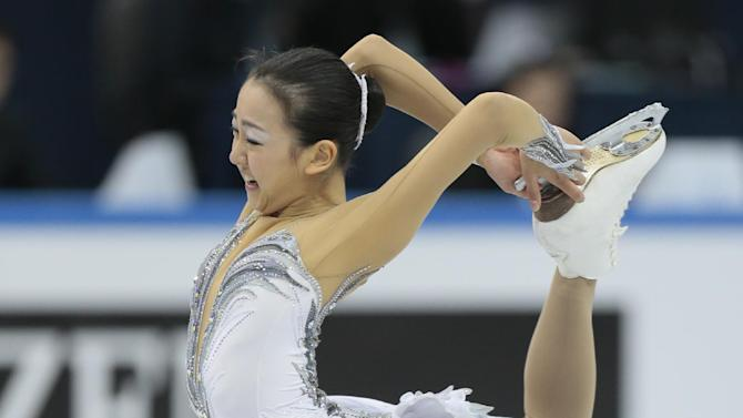 Asada Mao, of Japan, skates her free program to win the gold at the ISU figure skating Grand Prix Final event, at Iceberg stadium in Sochi, Russia, on Saturday, Dec. 8, 2012. (AP Photo/Ivan Sekretarev)