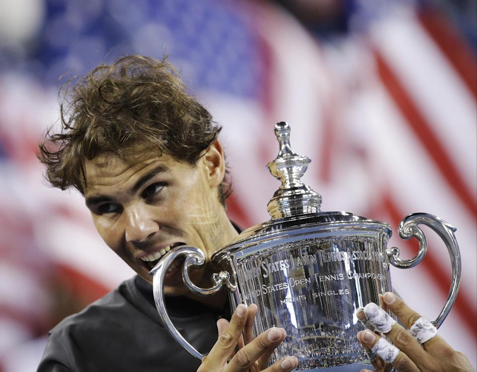Now at 13 Slam titles, Nadal's gaining on Federer