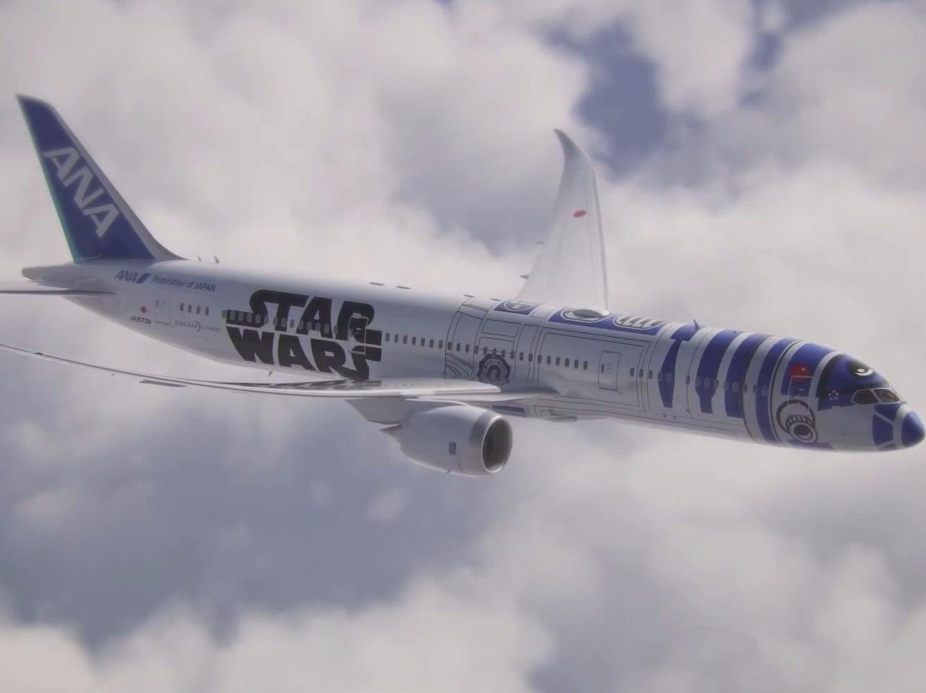 This 'Star Wars' Boeing Dreamliner is with us