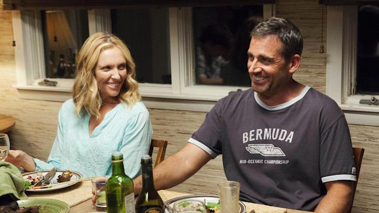 "This publicity photo released by Fox Searchlight shows Toni Collette, left, and Steve Carell in a scene from the film, ""The Way, Way Back."" (AP Photo/Fox Searchlight, Claire Folger)"