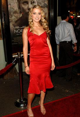 Amber Heard at the LA premiere of Warner Bros. Pictures' North Country