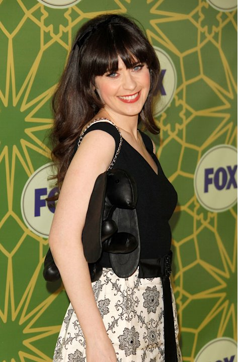 Zooey Deschanel (&quot;New Girl&quot;) attends the 2012 Fox Winter TCA All-Star Party at Castle Green on January 8, 2012 in Pasadena, California. 
