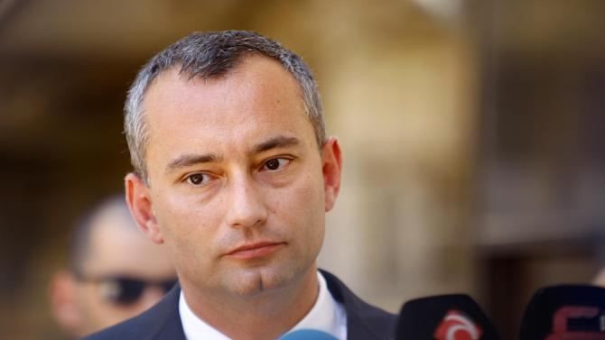 UN's special envoy to Iraq Nickolay Mladenov gives a press conference on July 19, 2014 in the Iraqi central shrine city of Najaf