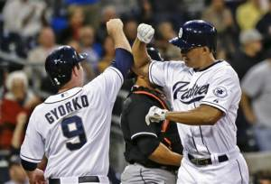 Stults pitches Padres to 5-1 win over Marlins