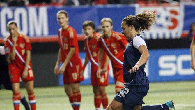 Abby Wambach scores in US win over Russia