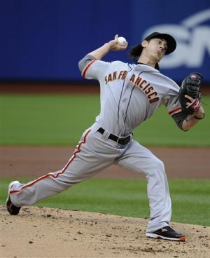 Bumgarner, Giants beat Mets for doubleheader sweep