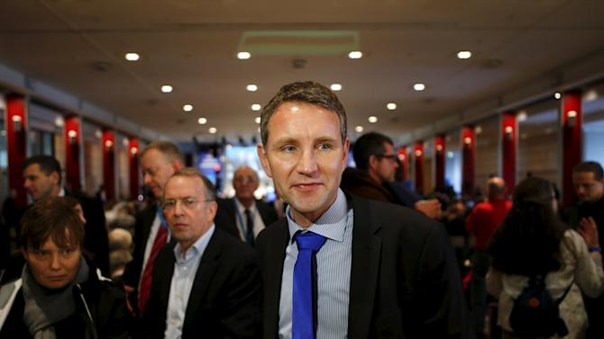 Bjoern Hoecke, spokesperson of the right-wing Alternative for Germany (AfD) party of  Thuringia, attends the party congress in Hannover