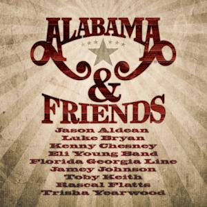 "This CD cover image released by 10 Spot shows ""Alabama & Friends,"" a new release by the band Alabama. (AP Photo/10 Spot)"