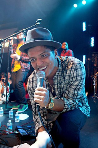 "Bruno Mars was busy hosting ""Saturday Night Live"" this weekend."