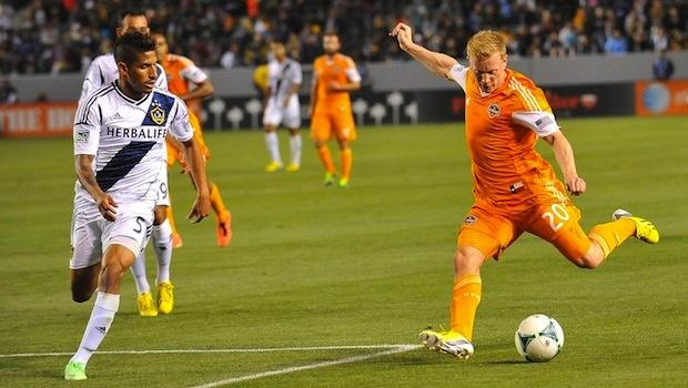 Where does Houston Dynamo's 1-0 win over LA Galaxy rank all-time road victories for the club