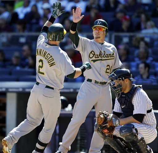 A's have final comeback in win over Yankees