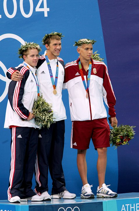 Athens Men&amp;#39;s 400m Individual Medley -- Phelps&amp;#39; first gold