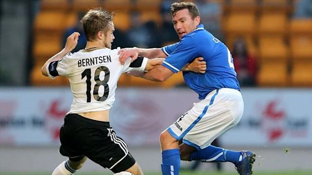 Paddy Cregg, right, helped St Johnstone knock Rosenborg out of the Europa League