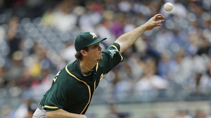 Jaso homers early off Tanaka, then Yanks stop A's