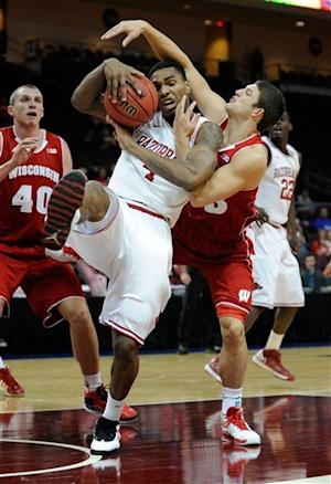 Wisconsin takes 3rd in Vegas over Arkansas 77-70