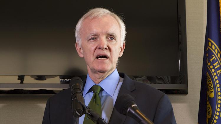 FILE - In this March 8, 2012 file photo, Nebraska Democratic candidate for the U.S. Senate Bob Kerrey speaks in Omaha, Neb. Nebraska Republicans choose a candidate to square off against Kerrey, a former senator seeking another turn on Capitol Hill. (AP Photo/Nati Harnik, File)