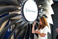 Catherine, the Duchess of Cambridge, officiates at a launch event at the Rolls Royce plant in Singapore on September 12. Prince William and his wife Catherine Wednesday unveiled the first plane engine to be produced by Rolls-Royce at its new factory in Singapore