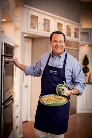 This undated publicity photo provided by The Random House Publishing Group, shows David Venable. Having a popular show on QVC, the shopping network, Dave Venable, QVC's self-proclaimed resident foodie, spends at least six hours a week on the air, and his fans are now pre-ordering his debut cookbook of comfort food, with recipes like cheesy cheeseburger casserole and bacon-topped mac 'n cheese, in numbers that resemble a hot new novel. (AP Photo/The Random House Publishing Group, Ben Fink Photography, Inc.)
