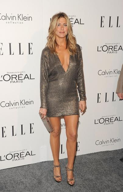 Jennifer Aniston arrives at ELLE's 18th Annual Women in Hollywood Tribute held at the Four Seasons Hotel in Los Angeles on October 17, 2011  -- Getty Images