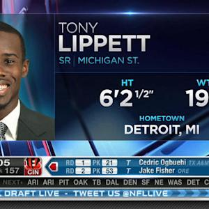 Miami Dolphins pick wide receiver Tony Lippett No. 156 in 2015 NFL Draft