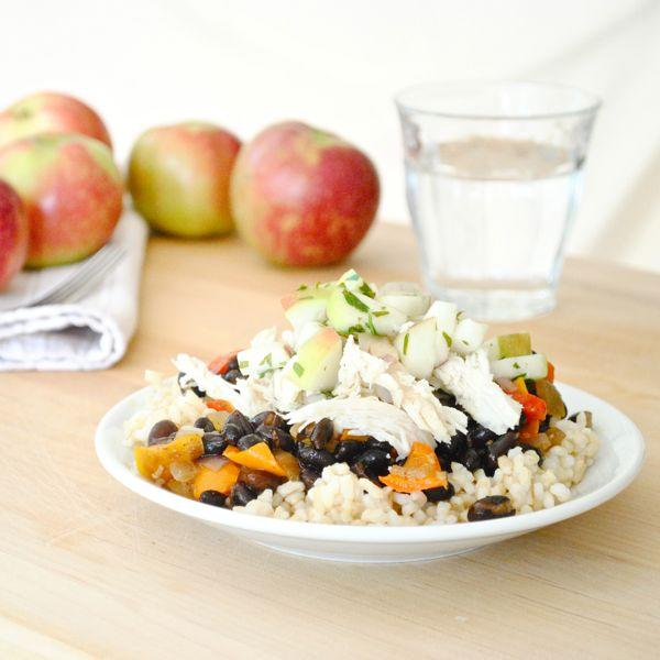 Black Beans and Rice with Apples and Chicken