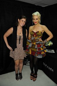 Me and Gwen! Definitely a Fashion Week highlight. Photo: Brian Bedder/Getty Images