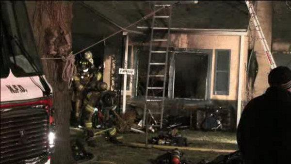 Montco man tries to save elderly mother from fire