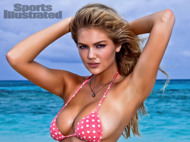 In this image released by Sports Illustrated on Monday, Feb. 13, 2012, model Kate Upton is shown in a photo from the &quot;Sports Illustrated 2012 Swimsuit Issue.&quot; Upton also graces the cover of the double issue now on sale at newsstands, tablet, mobile and at SI.com/Swimsuit. (AP Photo/Walter Iooss Jr. for Sports Illustrated) NORTH AMERICA USE ONLY UNTIL MARCH 2, 2012. MANDATORY CREDIT: WALTER IOOSS JR/SPORTS ILLUSTRATED