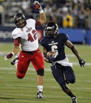 Oku runs for 3 TDs, Arkansas State tops FIU 34-20