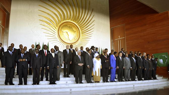 Heads of the African States pose for a group picture in Addis Ababa, Ethiopia, Sunday, Jan, 27, 2013, during the African Union Conference. African leaders met in the Ethiopian capital Sunday for talks dominated by the conflict in Mali as well as lingering territorial issues between the two Sudans. The African Union says it will deploy a force in Mali, where French troops are helping the Malian army to push back Islamist extremists whose rebellion threatens to divide the West African nation. (AP Photo)