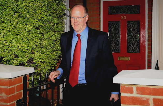 BBC Director-General George Entwhistle leaves his home in south west London Tuesday Oct. 23, 2012. The director general of the BBC is set to face a lawmaker committee to explain why the broadcaster pulled an expose unmasking one of its most popular entertainers as a pedophile. George Entwistle will face lawmakers on the Culture Media and Sport Select Committee on Tuesday. The appearance comes a day after BBC reporters put their own bosses in the hot seat over their role in the expanding pedophilia scandal. (AP Photo/Stefan Rousseau/PA Wire) UNITED KINGDOM OUT