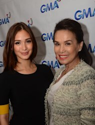 Heart Evangelista with her mother and manager Cecilia Ongpauco (Photo courtesy of GMA Network)