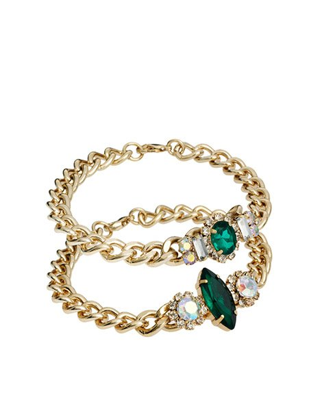 Double stone ID bracelets, $31.66, asos.com