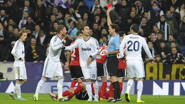 Sergio Ramos is sent off against Celta Vigo (Imago)