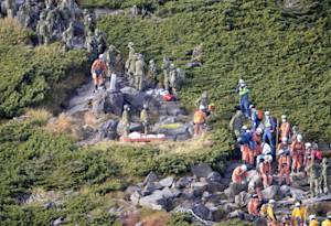 CORRECTS DATE - Firefighters and members of the Japan…
