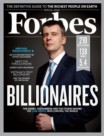 Forbes' 27th Annual Billionaires Issue