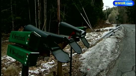 Mailboxes smashed in Keene