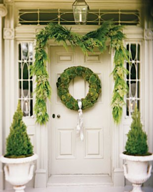 Moss Wreath and Fresh Greenery