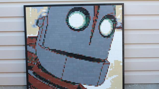 Iron Giant Lego Mosaic by Dave Ware
