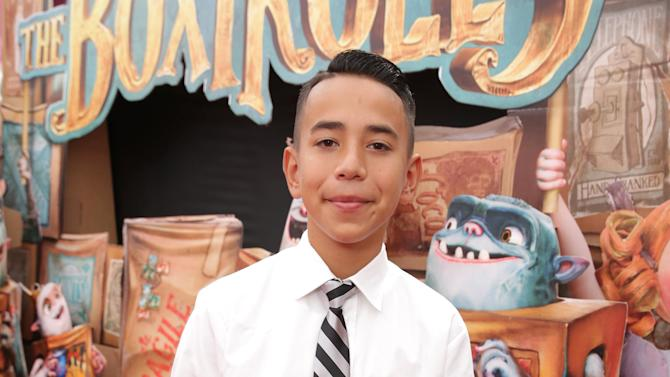 "Caine Monroy seen at ""THE BOXTROLLS"" LOS ANGELES PREMIERE Presented by LAIKA AND FOCUS FEATURES To Benefit the Imagination Foundation on Sunday, Sep 21, 2014, in Universal City, Calif. (Photo by Eric Charbonneau/Invision for Focus Features/AP Images)"