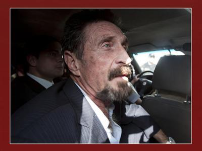 McAfee Says US Not Questioning Him