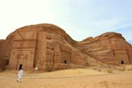 File photo taken in 2007 shows part of the archaeological site of Al-Hijr in Saudi Arabia. The Nabataeans first inhabited the area in the second century BC, but their ancient civilisation existed as far back as the eighth or seventh century BC
