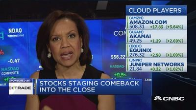 Cloud comeback in the Nasdaq