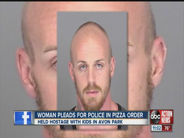Woman seeks rescue from boyfriend in online pizza order