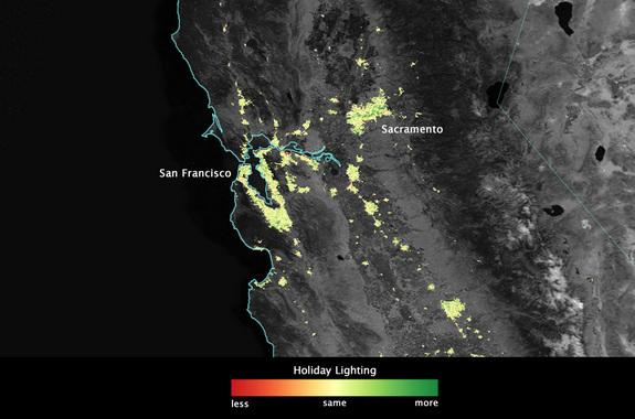 Holiday Lights From Space: Satellite Sees Cities Brighten (Photos)