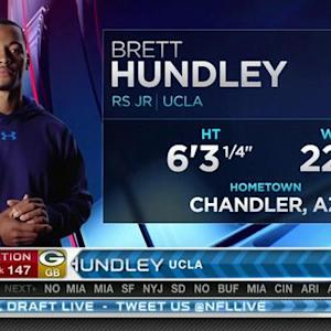 Green Bay Packers pick quarterback Brett Hundley  No. 147 in 2015 NFL Draft