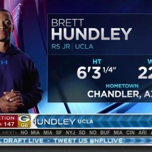 Green Bay Packers pick quarterback Brett Hundley  No. 147 in 2015 NFL Draft