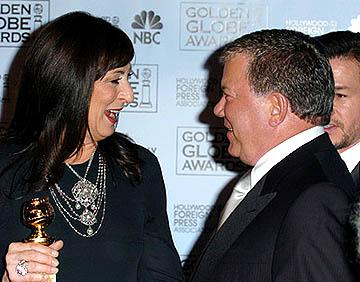 Anjelica Huston and William Shatner Best Supporting Actress and Actor for a Series, Miniseries or TV Movie Golden Globe Awards - 1/16/2005